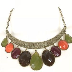 Fine jewelry huge acrylic stones fall colors